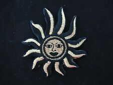 #3365 Golden,Black Sun Face Embroidery Iron On Applique Patch