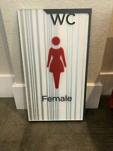 WOMEN'S Restroom Fitting Room Sign Contemporary Industrial Indoor Outdoor