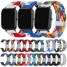 Nylon Loop Watch Strap Wrist Band For Huami Amazfit GTR 47MM 42MM Stratos 3 2 1