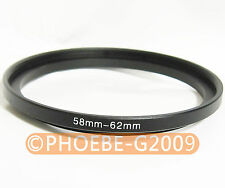 58mm to 62mm 58-62 mm Step Up Filter Ring  Adapter
