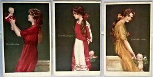 TITO CORBELLA Donnine Serie completa 357 Complete Set of 6 Cards PC Circa 1918