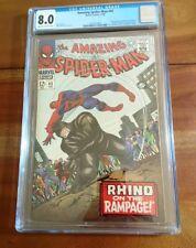 Spider-Man #43 1966 1st full Mary Jane Watson Origin Rhino Key Book! CGC 8.0 VF!