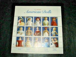 1997 32¢ CLASSIC AMERICAN DOLLS full sheet of 15, Scott #3151, Mint NH,
