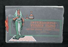 U14. 1903 ARCHITECTURAL CATALOG FOR INTERLOCKING RUBBER TILING. NY BELTING CO.