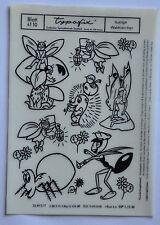 DDR Kult Typofix Haftdruckabreibfolie Rubbelbilder 4110 lustige Waldtierchen