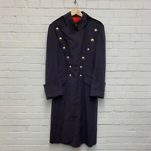 """GENERAL OFFICERS GREY/BLUE DOUBLE BREASTED GREAT COAT - Chest: 39"""" , British"""