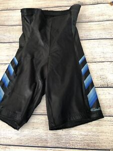 Womens SZ 3 Wind Skins by Marilena Italy Cycling Shorts Black