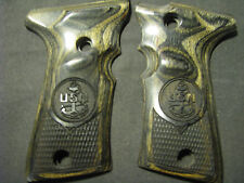 Beretta 92F 92FS COMPACT ONLY USN US NAVY Blackwood Checkered Pistol Grips
