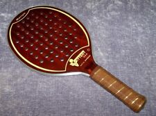 """Vintage VITTER USA Rallye A.P.T.A. Approved 17"""" Wood Paddle Ball Racquet Racket"""