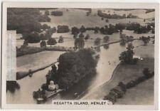 Temple  Island  Henley Royal Regatta Course 1930s Trade Ad Card