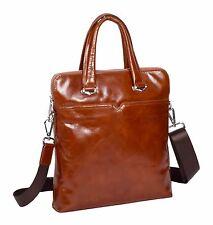 Crossbody Italian Leather Bag TAN Latest Twin Handle Zip Top Casual Flight Bag
