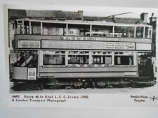 PAMLIN PRINTS M 493 - LONDON COUNTY COUNCIL TRAM IN FINAL LIVERY ON RTE 46 c1933