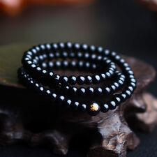 Black Sandalwood Buddhist Tibetan Wood Prayer Beads Bracelet Necklace Accessory