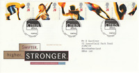 9 JULY 1996 OLYMPIC GAMES ROYAL MAIL FIRST DAY COVER BUREAU SHS (a)