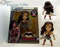 """METALS DieCast WONDER WOMAN M3 Batman Vs Superman Movie Version 4"""" JADA Figure"""