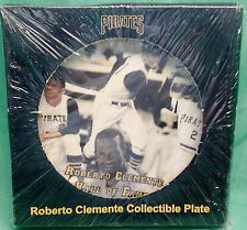 Roberto Clemente Collectible plate = Sponsored by Waste Management