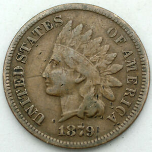 1879 Indian Cent - F/Fine