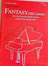 Bizet Fantasy Themes Carmen 2 Pianos 8 Hands 2 Copies Unmarked