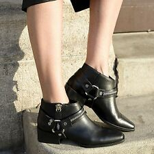 Zara Zip 100% Leather Upper Shoes for Women