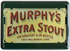 MURPHYS EXTRA IRISH STOUT Small Vintage Metal Tin Pub Sign