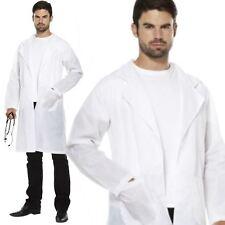 Adulte doctor docteurs blanc blouse de laboratoire scientifique halloween fancy dress costume