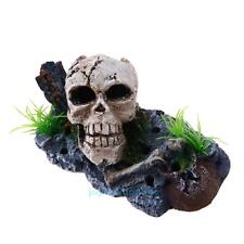 Aquarium Fish Tank Pirate Skull Skeleton Ornament Fish Tank Landscaping Decor