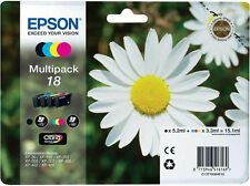 ORIGINAL EPSON 18 INK CARTRIDGES XP102 XP202 XP205 XP212 XP215 XP302 XP305 HOME