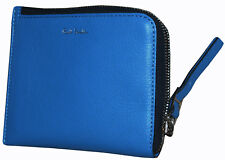 PAUL SMITH REAL LEATHER CORNER ZIP SKY BLUE WALLET BNWT RARE made in Italy