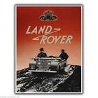 Land Rover VINTAGE RETRO OLD Anuncio Letrero Metálico De Pared Placa Póster