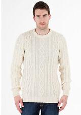 Jackson - 100% British Wool -  Mens Aran Jumper Sweater