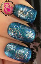 CHRISTMAS  NAIL ART WATER DECALS TRANSFERS STICKERS SANTA BELLS HOLLY SNOW #813