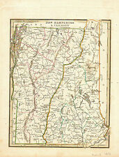 1865 Hand Colored Map of NEW HAMPSHIRE and VERMONT