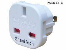 ShaniTech Original Pack of 4 UK to US Travel Adaptor USA Australia Canada Mexico
