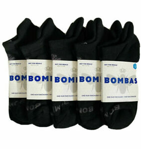 BNWT Bombas Ankle Socks Women's Small (5 Pairs) Solid Black