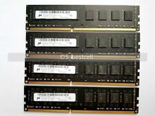 Micron 32GB 4x 8GB DDR3-1600 MHz PC3-12800 240PIN Desktop Memory Ram Unbuffered
