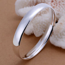 Classic 925 Sterling Silver Solid 10mm Round Golf Bangle Bracelet BN-A230