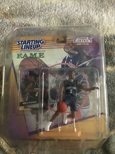 1998 Allen Iverson Georgetown FAME Starting Lineup Figure In Case NIB NBA Sixers