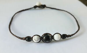 Howlite stone handmade Anklets for Men and Women,fashion anklets,snowflak