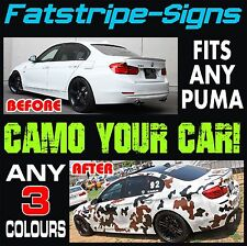FORD PUMA GRAPHICS CAMO STICKERS DECALS CAMOUFLAGE VINYL STRIPES ZETEC RACING