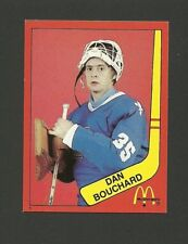 Dan Bouchard Quebec Nordiques Goalie #1 1982-83 McDonald's Hockey Sticker NM/M