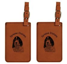 L4013 Spinone Italiano Head Luggage Tags 2Pk Free Shipping