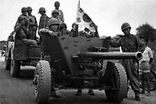 New 5x7 Korean War Photo: Korean Anti-Tank Gun, Evacuation of Suwon Airfield