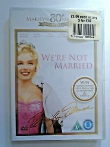 WE'RE NOT MARRIED - DVD NEW & SEALED - Marilyn Monroe, Ginger Rogers
