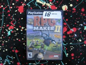 RPG Maker II PS2 PlayStation 2 2002 Creative Role Playing Game