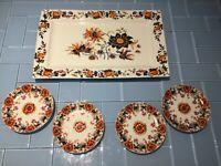 "Williams Sonoma Fleur Appetizer Plates Set of 4  6.5"""