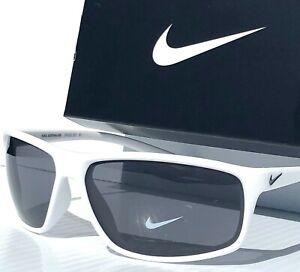 NEW* NIKE Adrenaline Legend in WHITE satin frame w Grey Lens Sunglass