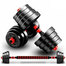 Adjustable Dumbbell Barbell Weight Lifting Set Home Gym Bicep Vinyl Dumbell Pair