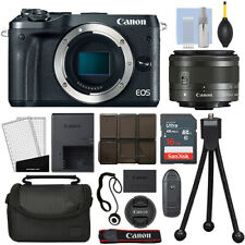 Canon EOS M6 Mirrorless Digital Camera with 15-45mm STM Lens Black + 16GB Kit