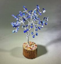 NATURAL LAPIS LAZULI GEMSTONE CHIP TREE WITH 100 STONES CRYSTAL TREE OF LIFE