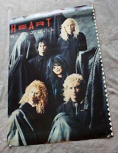 HEART Bad Animals 1987 Nancy Ann Wilson Ben Smith Craig Bartock Music Poster G